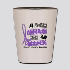 I Wear Violet 37 Hodgkin's Lymphoma Shot Glass